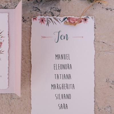 tableau de mariage floreale