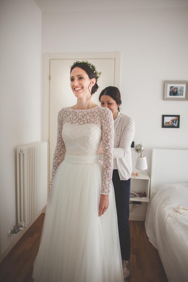 abito da sposa vestizione