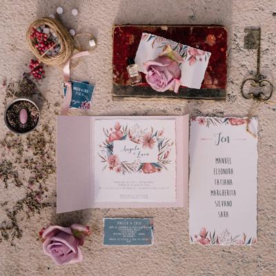 partecipazioni di matrimonio fiori