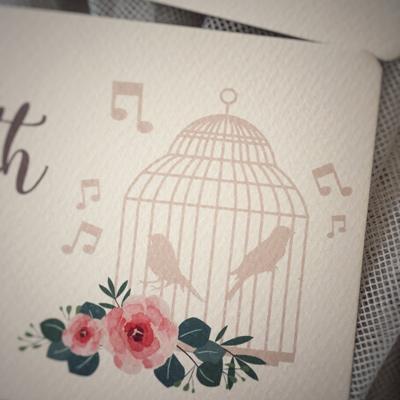 gabbiette uccellini matrimonio