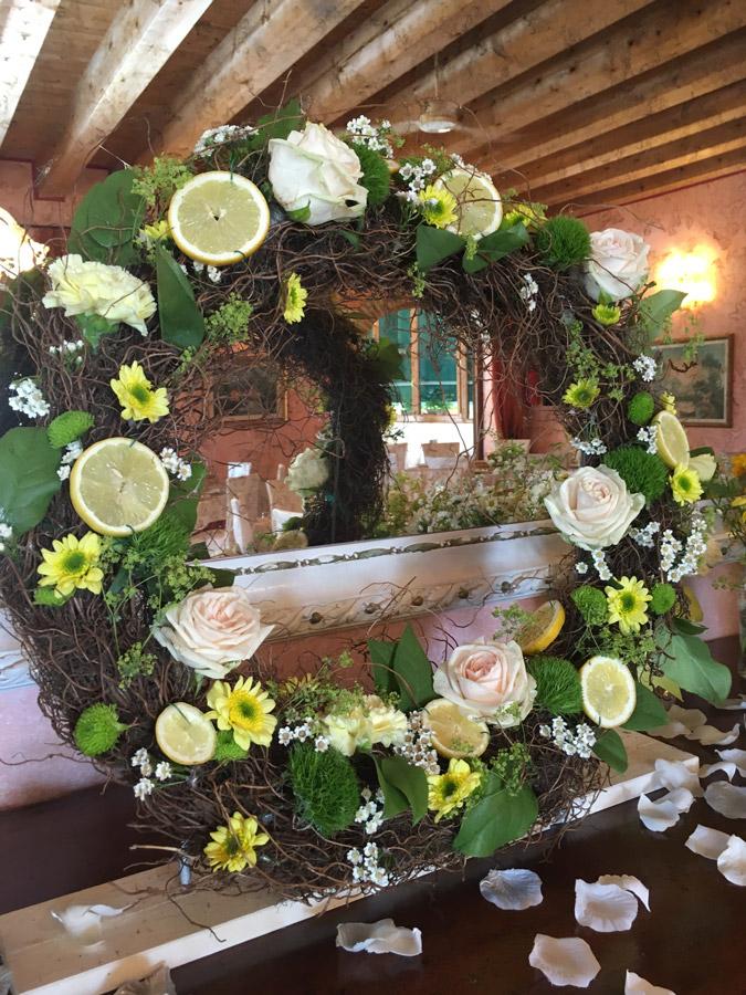 matrimonio tema limoni fiori ricevimento