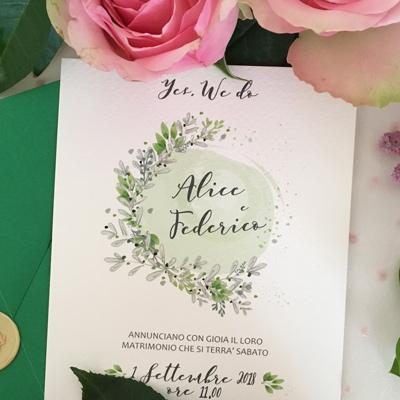 invito matrimonio botanico