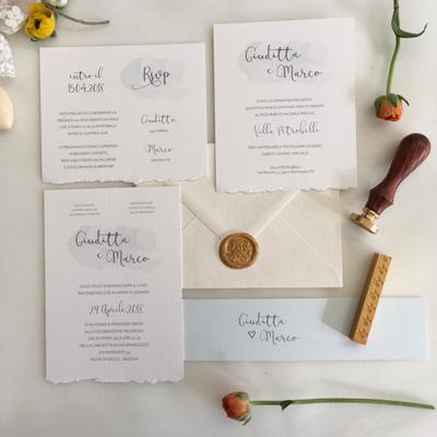 inviti matrimonio con ceralacca