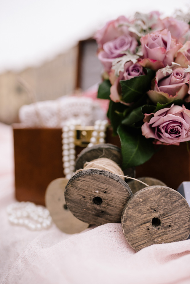 allestimento confettata matrimonio stile vintage venezia