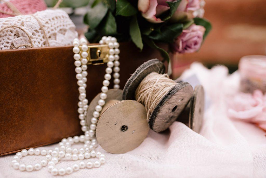 allestimento confettata matrimonio stile vintage