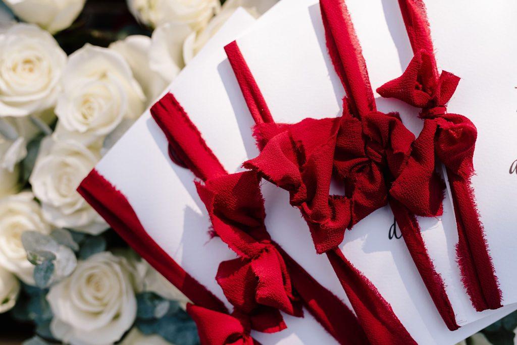 dettaglio menu matrimonio