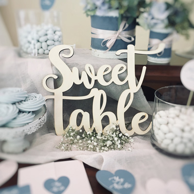 sweet table rustico