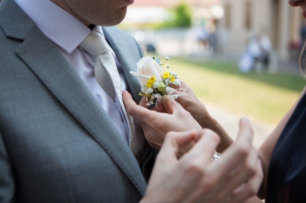 fiore occhiello sposo