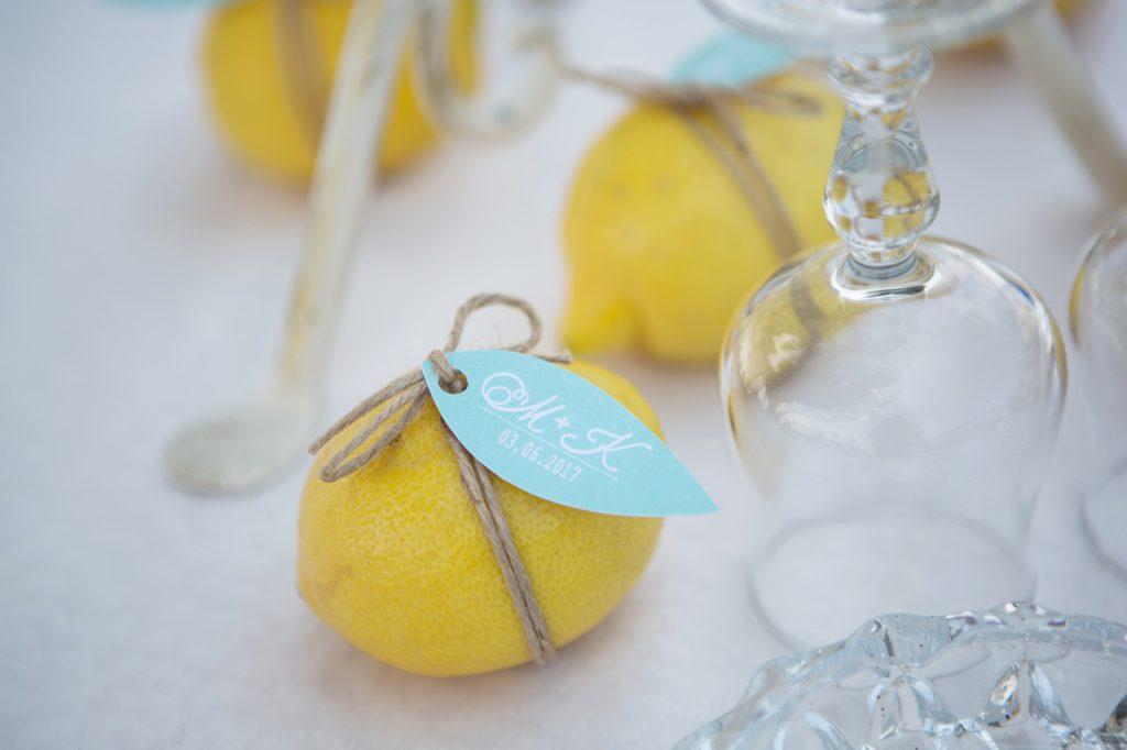 tema limoni matrimonio rustico in campagna