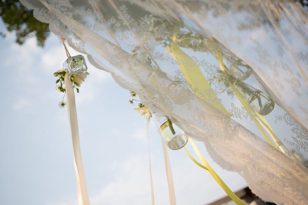 allestimento vasetti fiori pessi