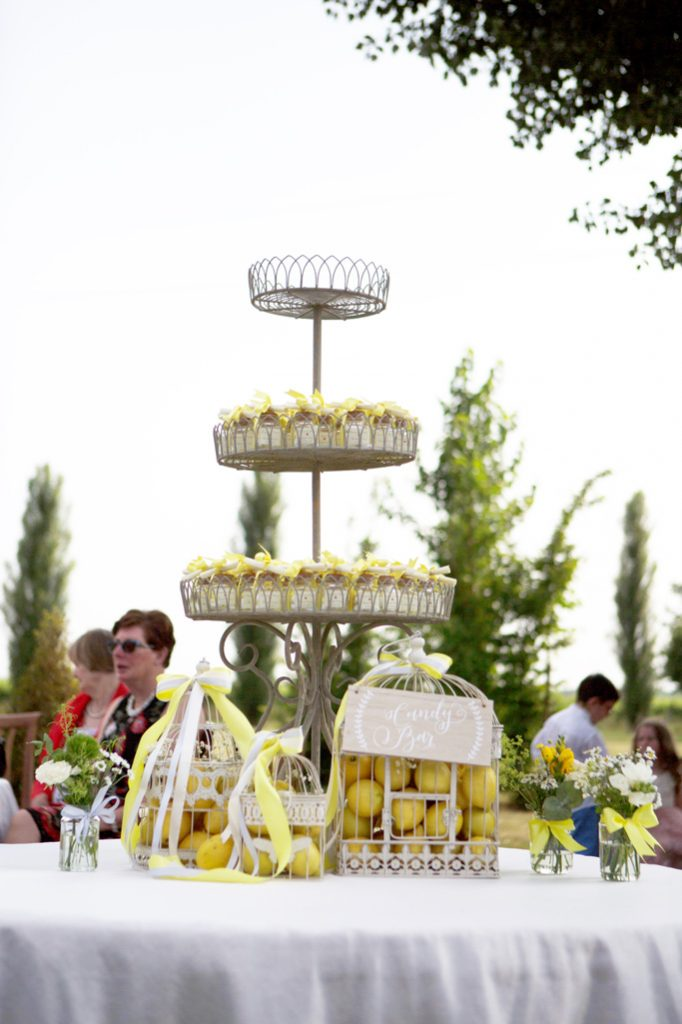 confettata country chic giallo limone