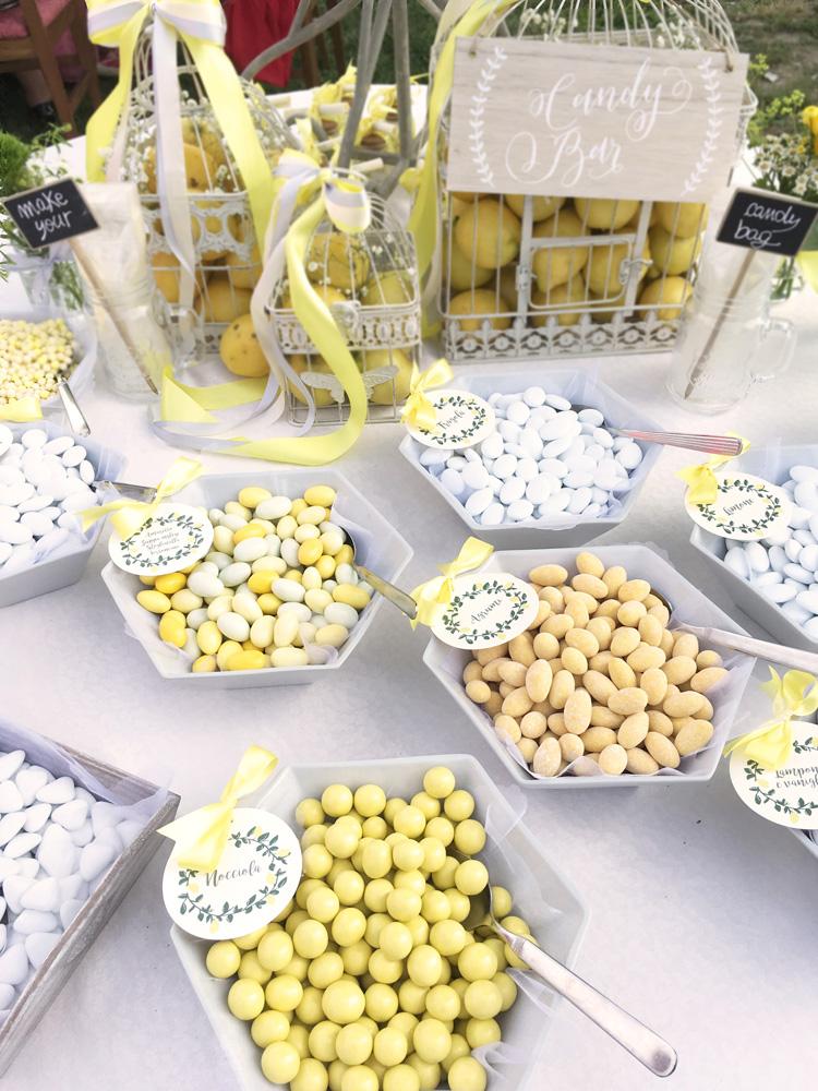 confettata colore giallo limone