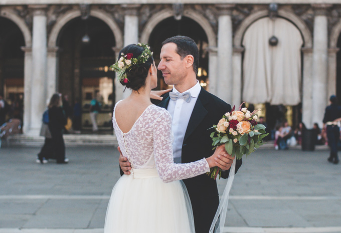 fotografia sposi in piazza san marco venezia