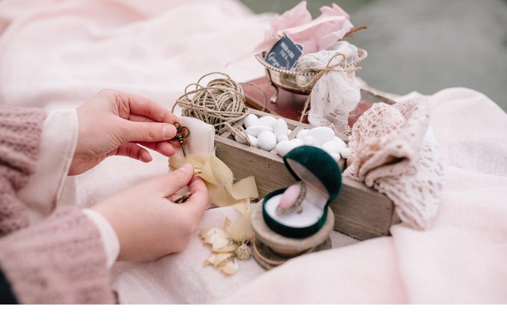 allestimento matrimonio confettata venezia